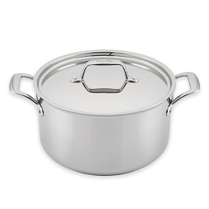 Alternate image 1 for Breville® Thermal Pro™ Clad Stainless Steel 8-Quart Covered Stock Pot
