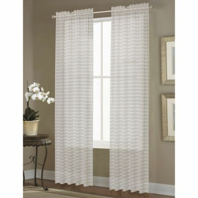 Dover Sheer Rod Pocket Window Curtain Panel Bed Bath And