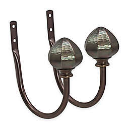 North Branch Hammered Facet Orb Window Curtain Holdback in Oil-Rubbed Bronze (Set of 2)