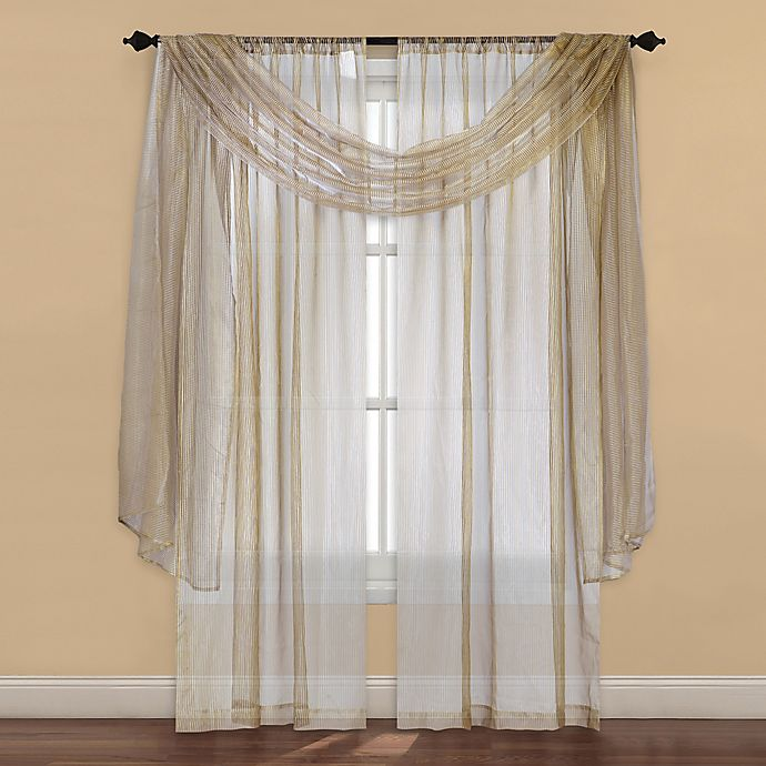 Alternate image 1 for Strive Sheer 95-Inch Window Curtain Panel in Ivory