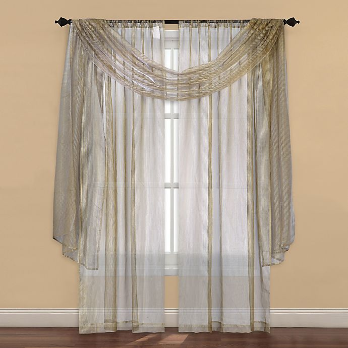 Alternate image 1 for Strive Sheer 63-Inch Window Curtain Panel in Gold