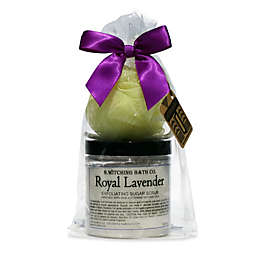 B. Witching Bath Co. Lavender Sugar Scrub and Brush Gift Set