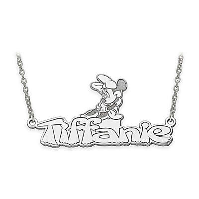 Disney® 14K Gold 18-Inch Minnie Mouse Nameplate Necklace