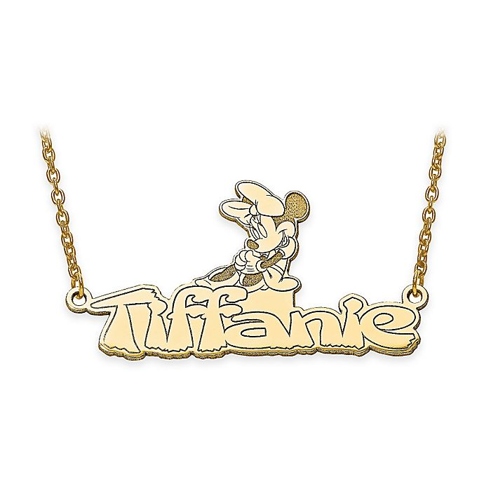 disney 14k yellow gold minnie buy disney 174 14k yellow gold 18 inch minnie mouse nameplate