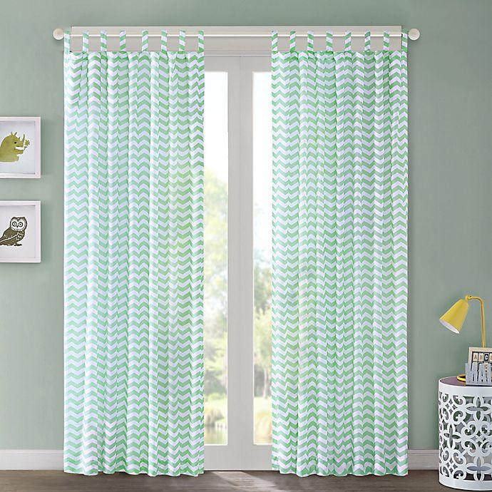 Alternate image 1 for Regency Heights Aya Chevron Tab Top Window Curtain Panel
