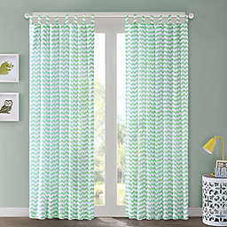 Regency Heights Aya Chevron Tab Top Window Curtain Panel