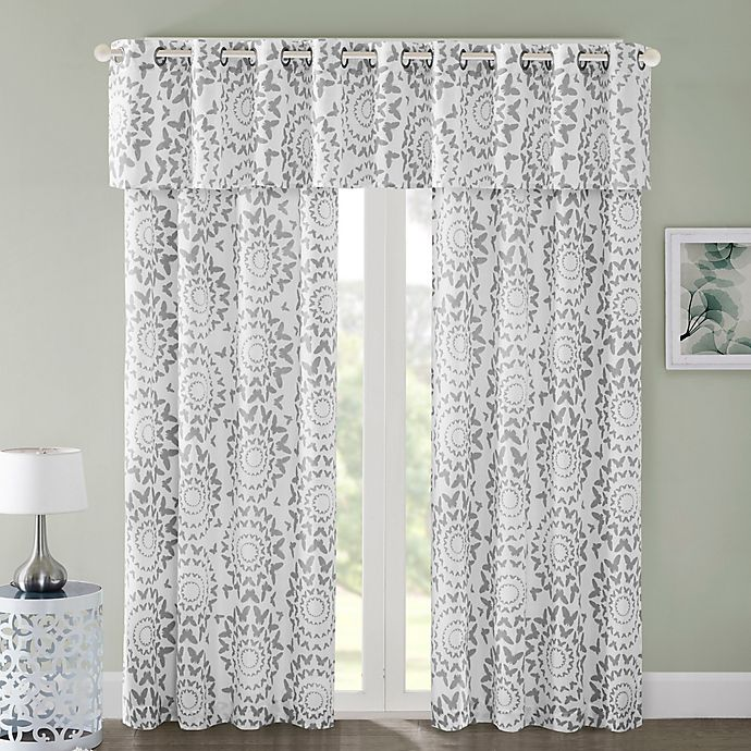 Alternate image 1 for Regency Heights Mariposa Window Curtain Panel and Valance