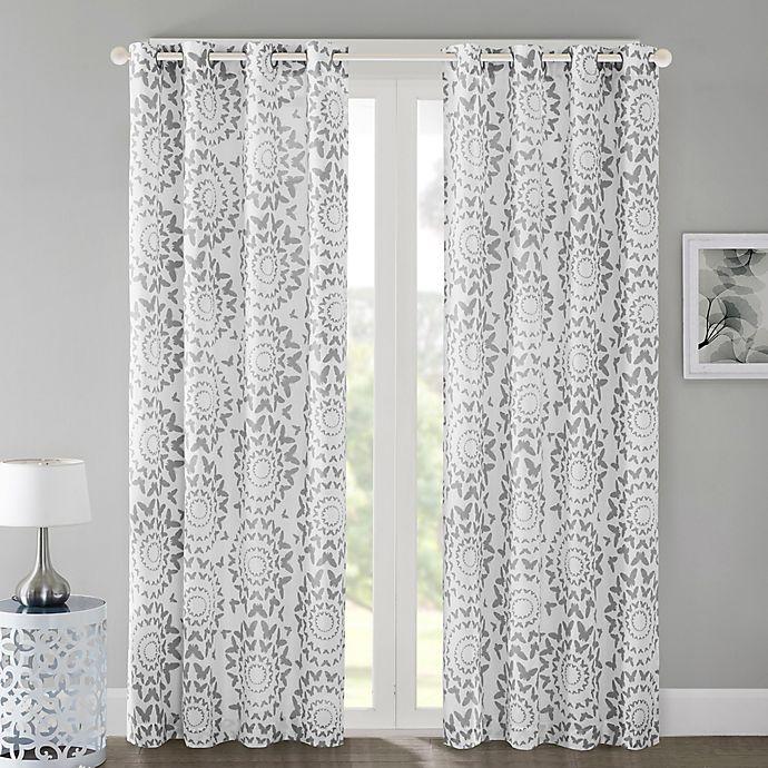 Alternate image 1 for Regency Heights Mariposa Grommet Top Window Curtain Panel