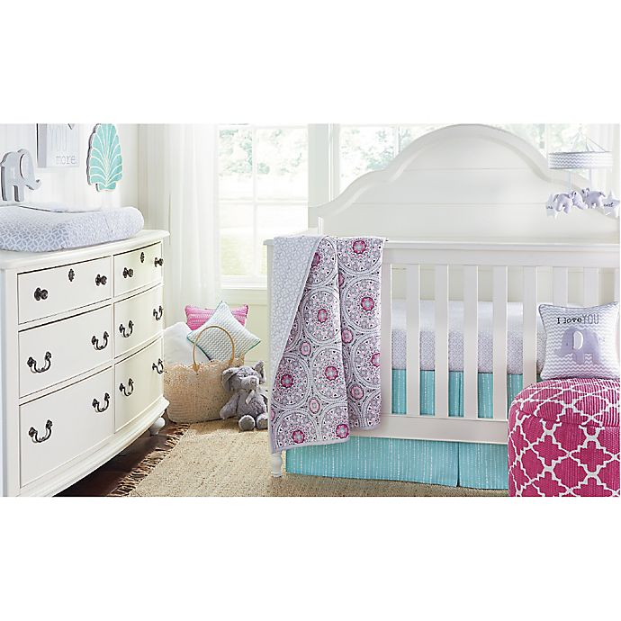 Wendy Bellissimo Mix Match Crib Bedding Collection In Grey Pink