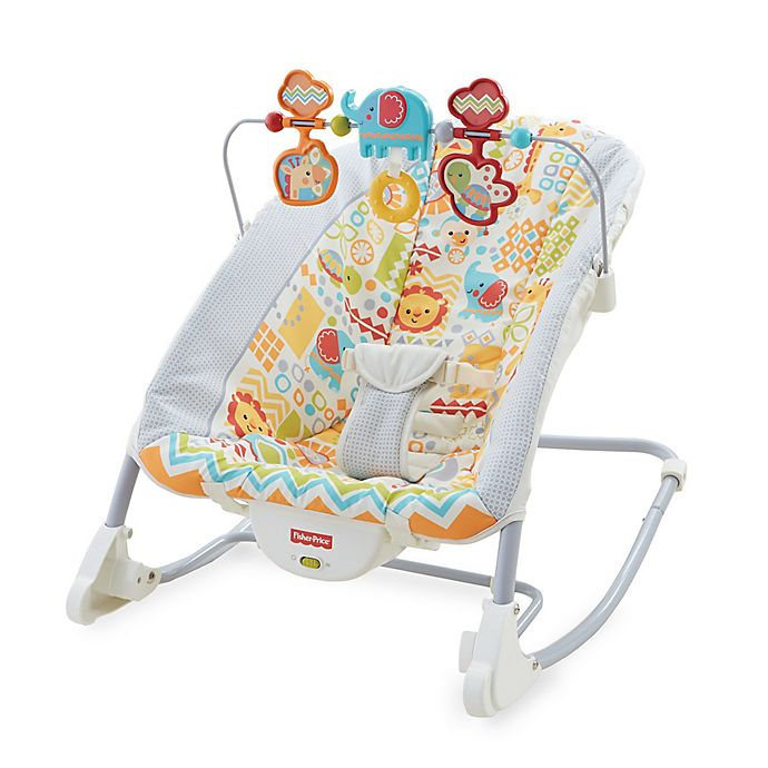 Fisher Price Deluxe Infant To Toddler Rocker In Animal Kingdom