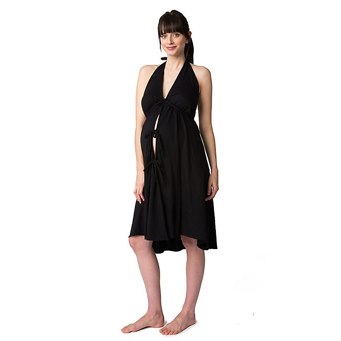 Alternate image 1 for Pretty Pushers® Labor Gown in Black