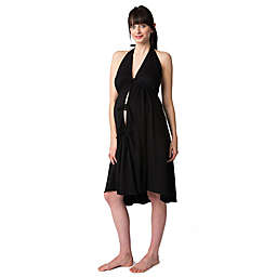 Pretty Pushers® Plus Size Labor Gown in Black
