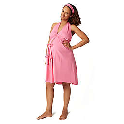 Pretty Pushers® Plus Size Labor Gown in Hot Pink