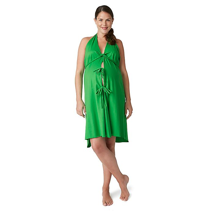 Alternate image 1 for Pretty Pushers® Labor Gown in Clover Green