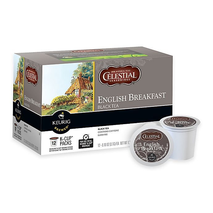 Alternate image 1 for Keurig® K-Cup® Pack 12-Count Celestial Seasonings® English Breakfast Black Tea