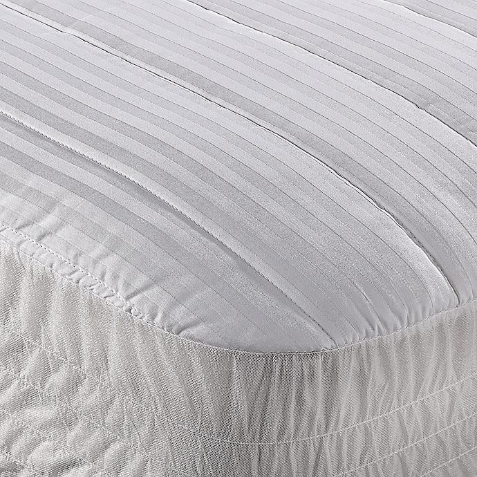 Alternate image 1 for Wamsutta® Dobby Stripe Cotton Twin XL Mattress Pad