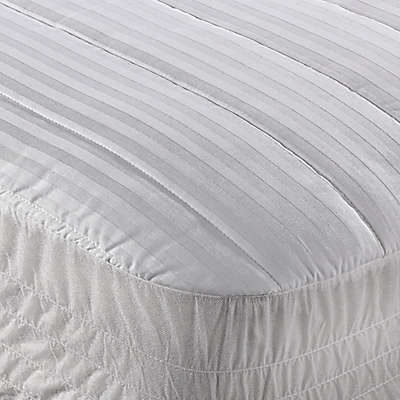Wamsutta® Dobby Stripe Mattress Pad in White