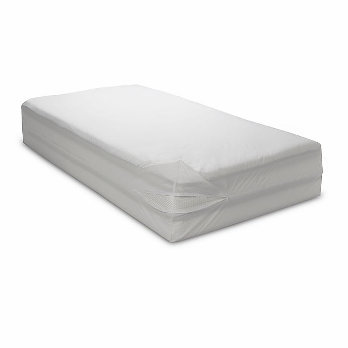 Alternate image 1 for Bedcare™ by National Allergy® Cotton Allergy Twin Mattress Protector in White