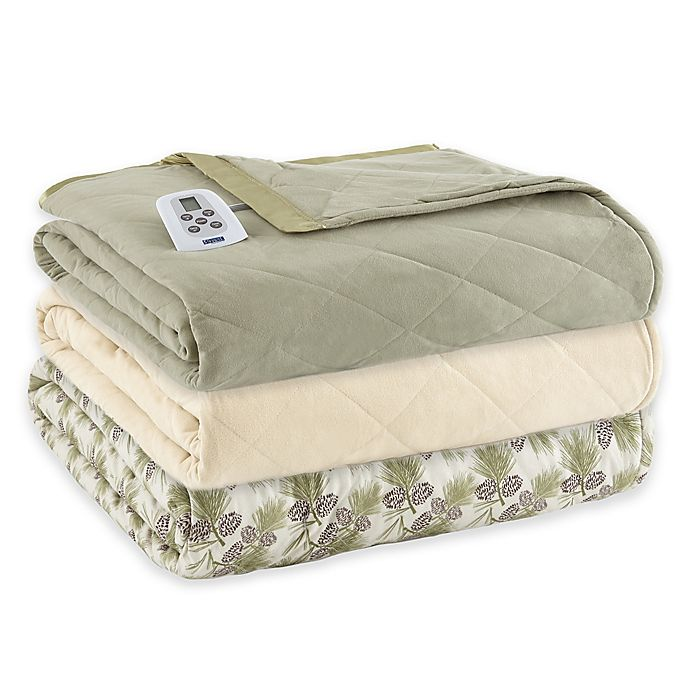 Alternate image 1 for Micro Flannel® Electric Heated Comforter/Blanket