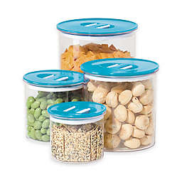 Oggi™ 4-Piece Round Stack-N-Store Canister Set