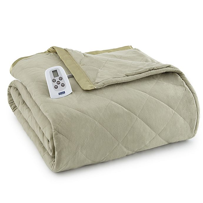 Alternate image 1 for Micro Flannel® Electric Heated Twin Comforter/Blanket in Meadow