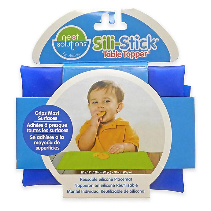 Alternate image 1 for Neat Solutions® Sili-Stick® Table Topper® Reusable Silicone Placemat in Blue