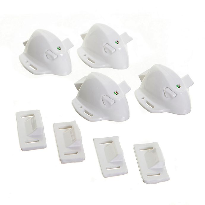 Alternate image 1 for Dreambaby® 4-Pack Adhesive Magnetic Lock