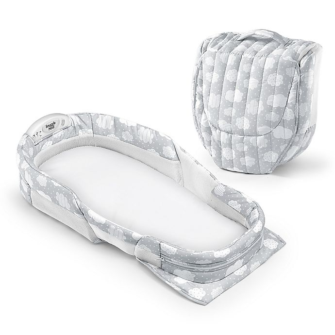 Alternate image 1 for Baby Delight®  Snuggle Nest™  Harmony Portable Infant Sleeper in Silver Clouds