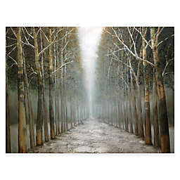 Hand Painted Canvas Tree Lined Path Gallery Wrap Wall Art