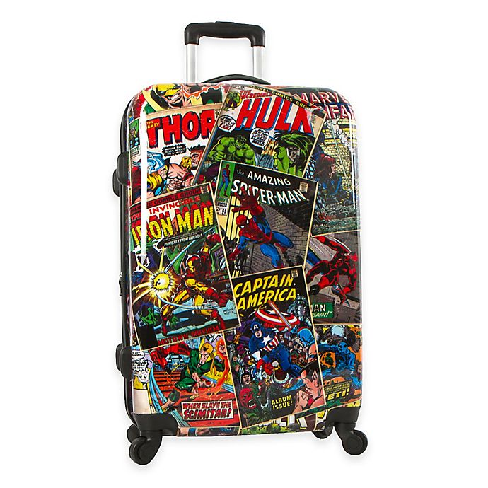 9552ceac9 Marvel® Comics 26-Inch Hardside Spinner Checked Luggage | Bed Bath ...