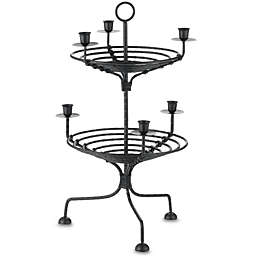 International Silver 2-Tier Metal Candleholder