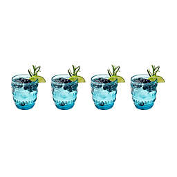 Euro Ceramica Fez Old Fashioned Glasses in Turquoise (Set of 4)