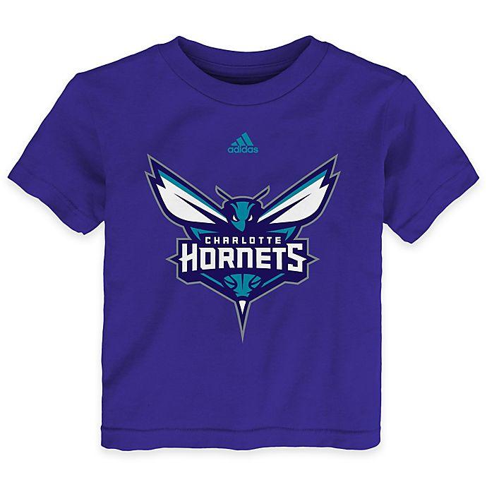 Alternate image 1 for NBA Charlotte Hornets Size 2T Short Sleeve Shirt in Purple