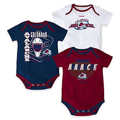 "NHL Colorado Avalanche ""3 Point Spread"" Bodysuit Set (Set of 3)"
