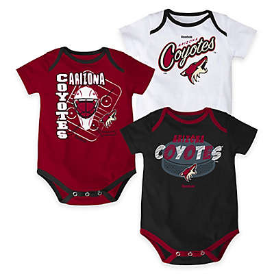 "NHL Arizona Coyotes ""3 Point Spread"" Bodysuit Set (Set of 3)"