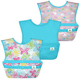 green sprouts® 3-Pack Snap & Go Easy-Wear Bibs