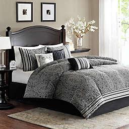 Madison Park Barton Comforter Set in Black