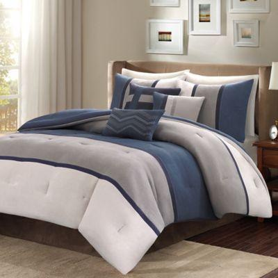 Attirant Madison Park Palisades 7 Piece Reversible Comforter Set | Bed Bath U0026 Beyond