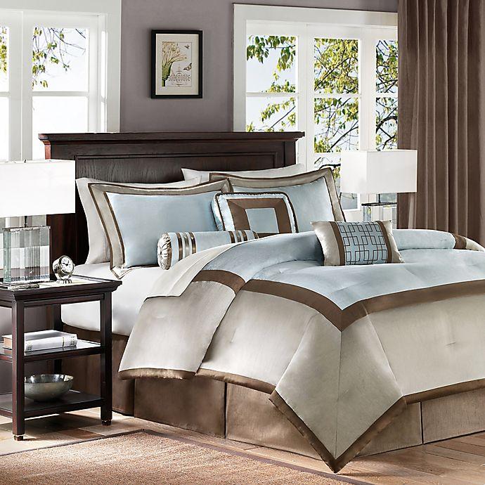 Alternate image 1 for Madison Park Genevieve 7-Piece King Comforter Set in Blue
