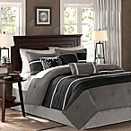 Madison Park Palmer 7-Piece Queen Comforter Set in Black/Grey