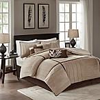 Madison Park Dune 7-Piece King Comforter Set in Beige