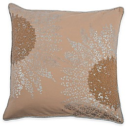 Rizzy Home Embroidered Medallion Square Throw Pillow