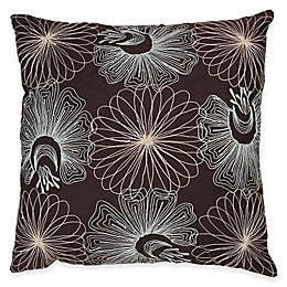Rizzy Home Embroidered Floral Square Throw Pillow