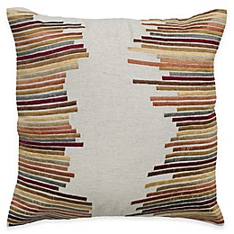 Rizzy Home Retro Stripe Square Throw Pillow in Beige
