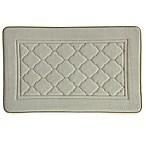 Bacova Microban Florence 20-Inch x 32-Inch Memory Foam Bath Rug in Linen