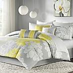 Madison Park Lola 7-Piece King Comforter Set in Yellow/Grey
