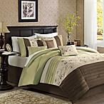 Madison Park Serene 7-Piece Queen Comforter Set in Green