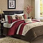 Madison Park Serene 7-Piece Queen Comforter Set in Brick