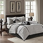 Madison Park Connell Queen Comforter Set in Grey