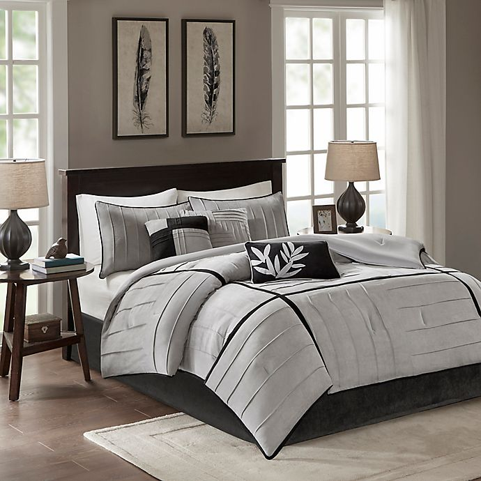 Alternate image 1 for Madison Park Connell Queen Comforter Set in Grey